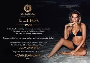 Get ready to glow darker with Bellamianta's revolutionary new Ultra Dark Self Tanning Tinted Mousse