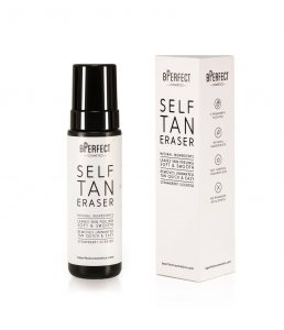 Get the perfect pre-tanning base with the new BPerfect Cosmetics Strawberry Scented Self Tan Eraser